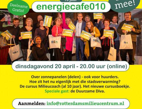 Het Energiecafé010 van 20 april op YOUTUBE